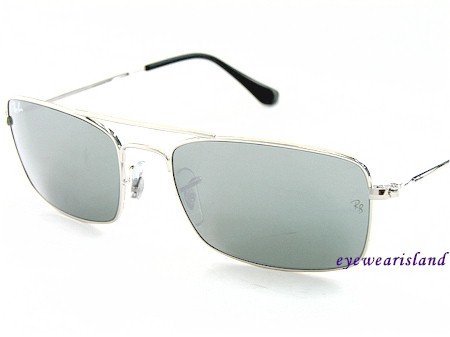 a0b1e7715d1f3d Authentic New RAYBAN RB 3309 003 40 RAY BAN SUNGLASSES MIRROR LENS   SILVER  FRAME