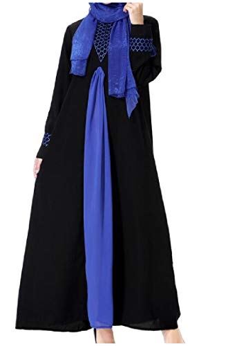 Blue Abaya Dress East Women Coolred Arabic Abaya Long Caftan Middle TzxA1Bq