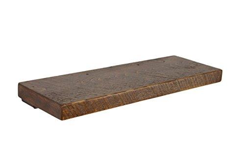 Joel's Antiques, Floating Shelf, Rustic Shelves, Medium Brown, Wood Shelf, Pine, Dishes, Books, Open Shelving, Heavy Duty, (24