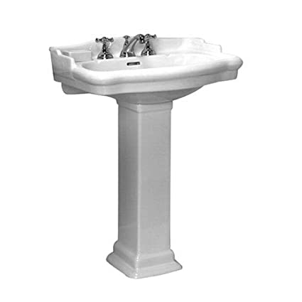 Barclay 3 874wh Stanford 460 Vitreous China Pedestal Lavatory Sink