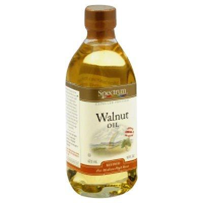 Spectrum Naturals Refined Walnut Oil 16 Oz (Pack of 3)
