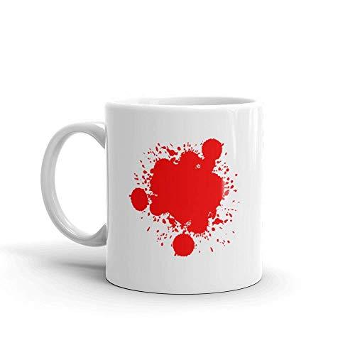 Dozili Funny Coffee Mug - Halloween Terrible Blood Splash Horror Film Ceramic Coffee Mug Cup, 11 Oz, -