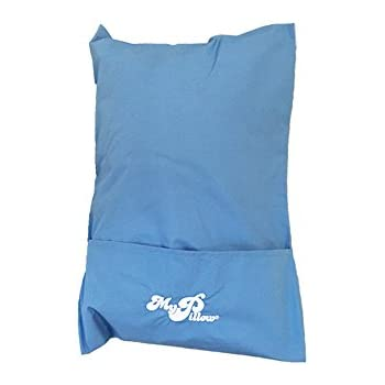 """MyPillow Roll N Go Travel Pillow Rolls Into It's Own Pillow Case, Included, DayBreak Blue, Size 12"""" X 18"""""""