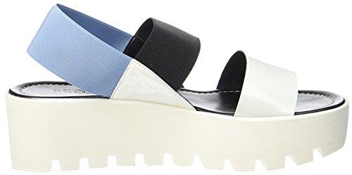 Pollini Vrouwen Sandalette Wig Wit / Zwart / Sky Blue