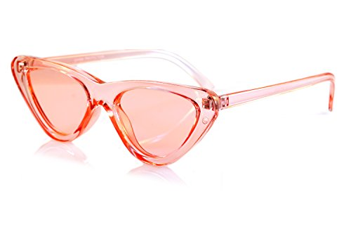 FBL Iconic Celebrity Eye-Candy Lens Frame Slim Cat-Eye Sunglasses A078 - Eye Slim Sunglasses Cat