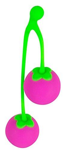 ORION Liebeskugeln Sweet Cherry - Liebeskugeln für sie mit Vibration für effektives Beckenbodentraining und mehr Lustempfinden beim Sex