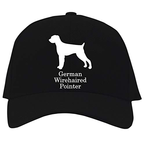 Eddany German Wirehaired Pointer Silhouette Baseball Cap Black