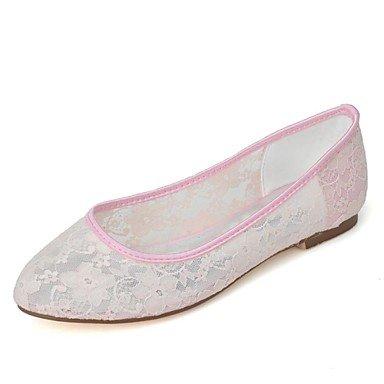 White Heel EU35 Black CN34 Flat Lace Wedding Summer Women'S UK3 Pink Party amp;Amp; Evening Ivory Spring US5 7q8zw6