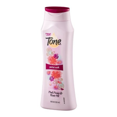 Tone Moisturizing Body Wash Petal Soft  - Pink Peony and Rose Oil -  18 OZ (Rose Dial)