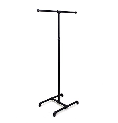 - AMKO PL-K2 Pipe Rack, Height Adjustable, Dark Ash Grey Finish - lndustrial Grade Clothing Racks