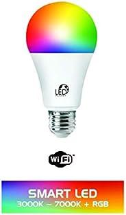 LÂMPADA LED INTELIGENTE SMART WIFI 10W BULBO RGB DIMERIZÁVEL COMPATÍVEL COM ALEXA