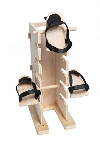Pain Free-Posture Multi-Positioning Tower (Includes Single & Double Pedal)- Egoscue New & Improved with Upgraded & Better Made Pedals-Thick & Sturdy-Safe & Easy to Use-Hip Flexor Releaser-Pain Reducer