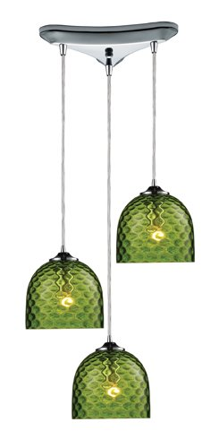 Green Blown Glass Pendant Light