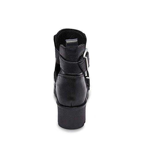 Us Ravish Madden 0 Bootie Black Steve Leather 10 Women's Casual EBwqn4xzv