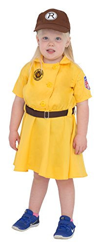 Children's Racine Belles AAGPBL Baseball Costume Dress (3/4T) Yellow (A League Of Their Own Baby Costume)