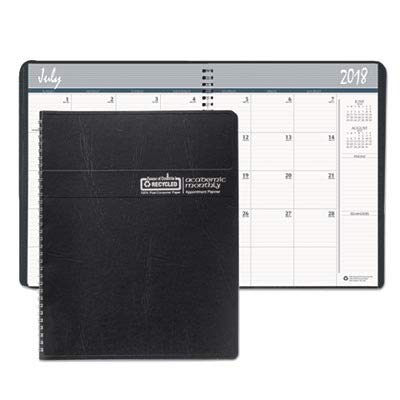 House of Doolittle 14 Month Academic Planner July 2013 to August 2014, Black Embossed Leatherette Cover, 8.5 x 11 Inches Recycled Materials (HOD26502)