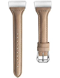 Compatible for Fitbit Charge 3 Bands Genuine Leather Watch Replacement Strap Fashion Smart Watch Wristband