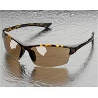 - Elvex Sonoma Hard Coated Polycarbonate Lens with Light Gold Mirror, Tortoise Frame, Brown