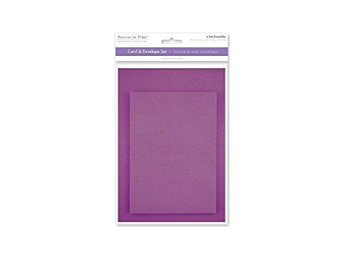 [해외]Forever in Time CM600I A6 Cards & Envelopes 6 Sets 4.5in x 6in Violet / Forever in Time CM600I A6 Cards & Envelopes, 6 Sets, 4.5in x 6in, Violet