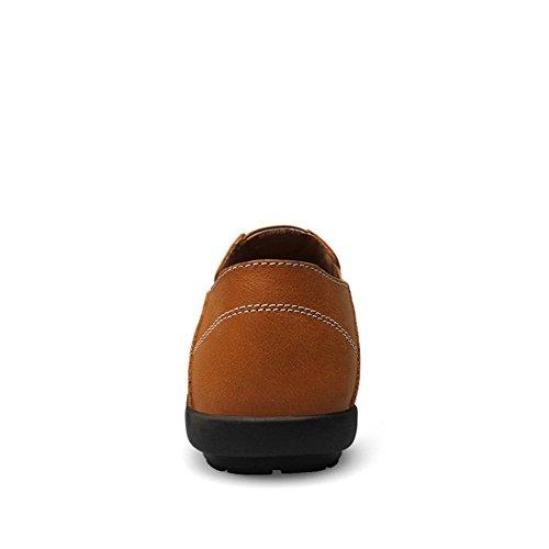 Hombre Conducción Coche Ponerse Mocasines Shenn Marrón Zapatos Cuero Comodidad zqd6gKwx