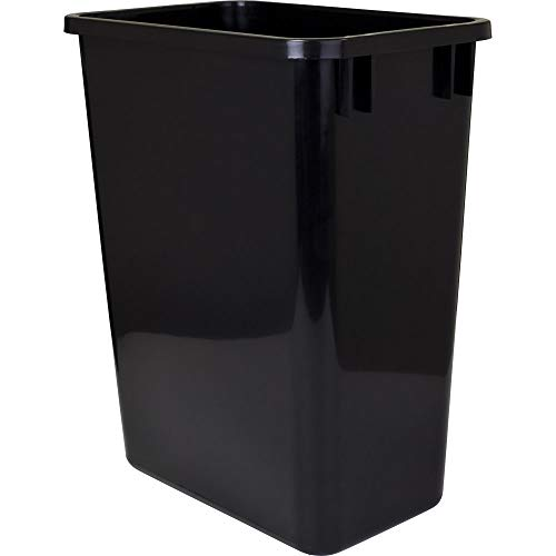 (Hardware Resources CAN-35 Plastic Waste Container, Black)