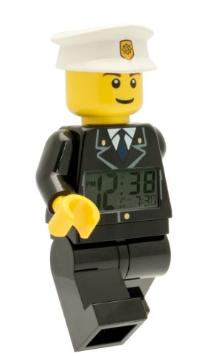 LEGO Kids' LEGO City Policeman Minifigure Alarm Clock