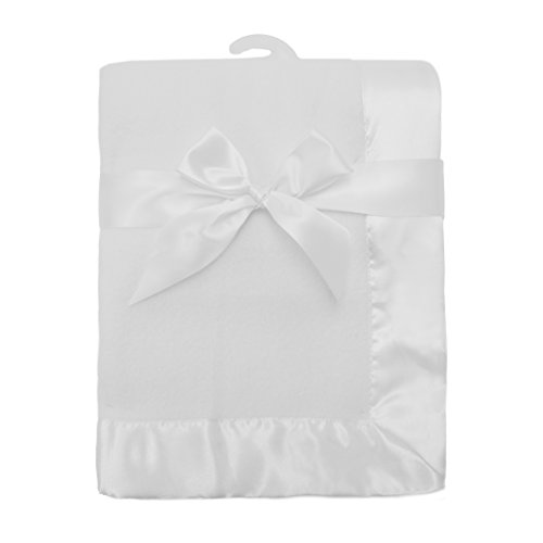 Fleece Satin Baby Blanket (American Baby Company Fleece Blanket 30