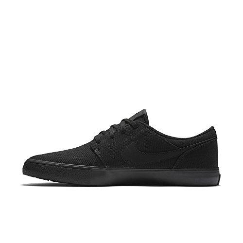 Nike SB Portmore II Solar CNVS, Zapatillas de Skateboarding Para Hombre, Negro (Black/Black 001), 38.5 EU