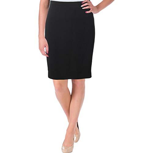 Elie Tahari Womens Banded Waist Back Slit Straight Skirt Black - Elie Skirt Womens Tahari