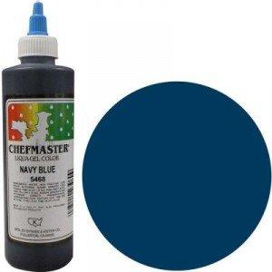 Chefmaster Liqua-gel Colour - Navy Blue 10 oz by Chefmaster