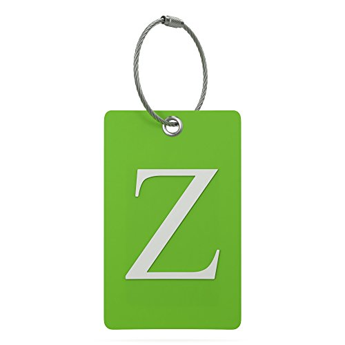Luggage Tag Initial - Fully Bendable Tag w/Stainless Steel Loop (Letter ()