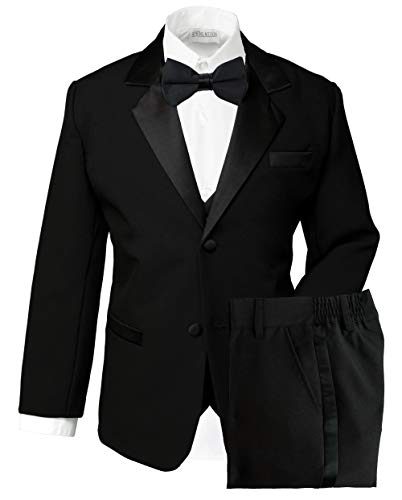 Spring Notion Boys' Classic Fit Tuxedo Set, No Tail 12 Black
