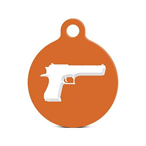 Desert Eagle Round Keychain with Tab engraved Israel 50 CAL Orange -