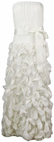 Tadashi Shoji Ivory Silk Strapless Wedding Dress 10 [Apparel] [Apparel]