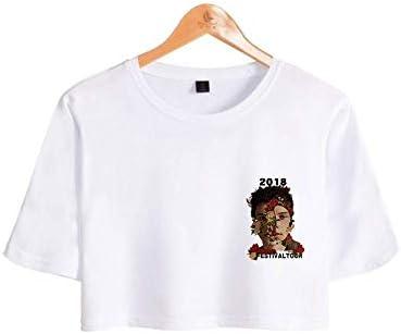 CWHao Camiseta Popular Europea Y Americana Camiseta Corta de Manga Corta Camiseta Moda Mujer, Blanco, l: Amazon.es: Deportes y aire libre
