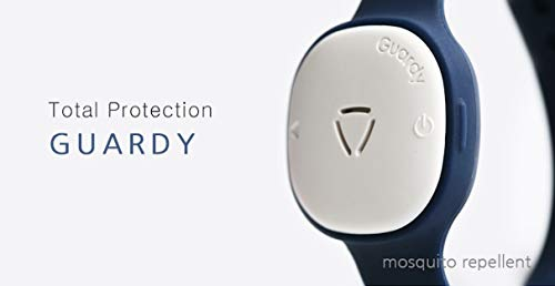 GUARDY Navy Electronic Mosquito Repellent Wristband/Necklace