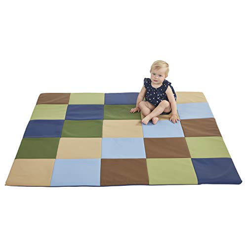 (ECR4Kids ELR-031F-ET-A Soft zone Patchwork Toddler Foam Play Mat Earth tone, 58