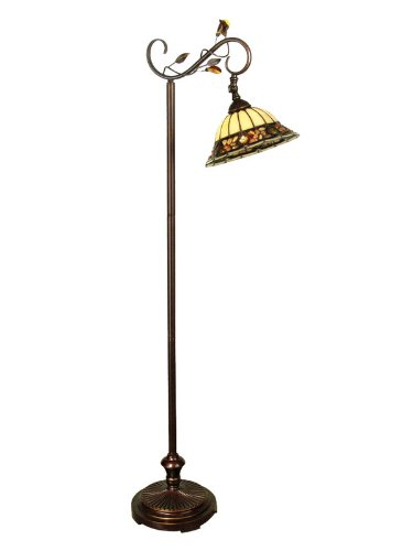 Dale Tiffany TF90219 Crystal Jewel Pebble Stone Floor Lamp, Antique Golden Sand - Antique Tiffany Floor Lamp