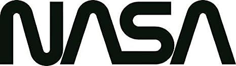 U24 Aufkleber Nasa Schriftzug Schwarz 30 X 8 Cm Autoaufkleber Sticker Konturschnitt Auto