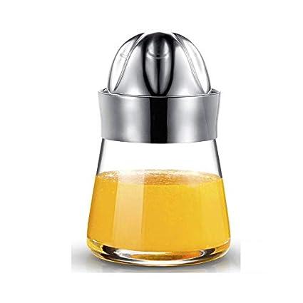 Ryback Manual exprimidor de naranja limón Exprimidor mini frito fruta zumo de presión eléctrica cristal parte
