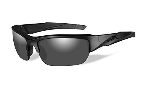 Wiley X Valor Sunglasses (Smoke Grey Lens, Matte Black ()