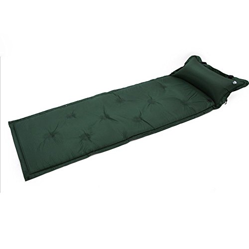 (Eagles Mattress Camping Waterproof Inflatable Self-Inflating Damp Proof Sleeping Pad Tent Air Mat Mattress with Pillow for Outdoor Camping Dark)