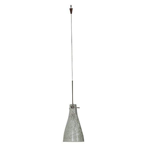 Access Lighting 23218UJ-0-BRZ/CRY Cavo One Light Italian Wire Glass Jack Plug Pendant with Crystal Glass Shade, Bronze Finish