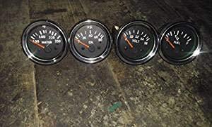 Quality Diesel Electrical Oil Pressure +Temperature + Volt + Fuel Gauge 52mm