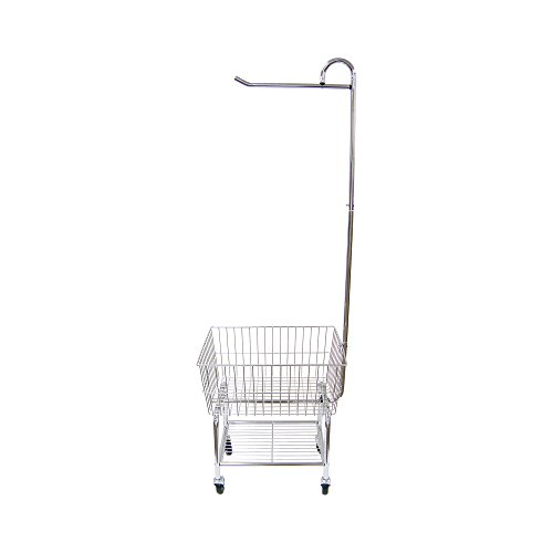 Organize It All Rolling Chrome Commercial Laundry Butler with Storage Rack by Organize It All (Image #1)