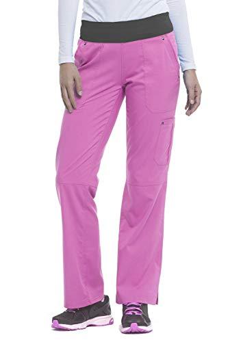 (healing hands Purple Label Yoga Women's Tori 9133 5 Pocket Knit Waist Pant Pretty in Pink/Pewter- X-Large Petite )