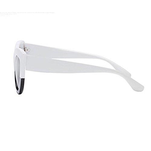 Mujer Verano Sol UV400 de Taigood Classic ojo de Gafas Gafas Blanco2 Retro Unisex Sol Gato Gafas de Estilo de Hombre Polarizadas qHXwTE
