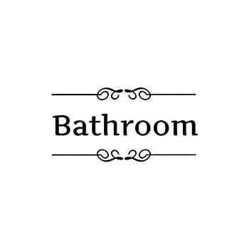 LRRH Creative Home Decoration Bathroom Removable Cute Door Stickers For Toilet/ Washroom /Bathroom /Restroom Decorations(Bathroom) Product ID: 9191792460538