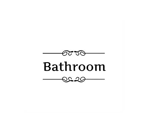 LRRH Creative Home Decoration Bathroom Removable Cute Door Stickers For Toilet/ Washroom /Bathroom /Restroom Decorations(Bathroom)