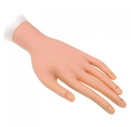So Beauty - Mano artificial humana, flexible, mano izquierda, modelo, color carne, para práctica de arte de uñas